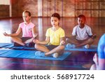 School Kids Meditating During...