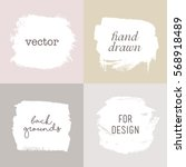 vector hand drawn elements for... | Shutterstock .eps vector #568918489