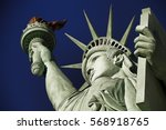 the statue of liberty america... | Shutterstock . vector #568918765