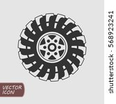 offroad wheel icon | Shutterstock .eps vector #568923241