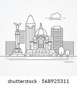 linear illustration of montreal ... | Shutterstock .eps vector #568925311