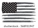 grunge american flag.vector... | Shutterstock .eps vector #568931947