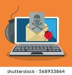 cyber security design | Shutterstock .eps vector #568933864