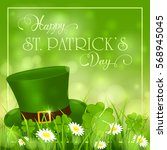 patricks day background with...   Shutterstock .eps vector #568945045