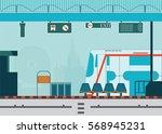 train station platform of... | Shutterstock .eps vector #568945231
