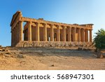 the famous temple of concordia... | Shutterstock . vector #568947301