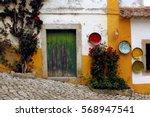traditional portugal street... | Shutterstock . vector #568947541