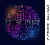 chemistry colorful round... | Shutterstock .eps vector #568948225