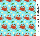 vector seamless pattern with... | Shutterstock .eps vector #568949629