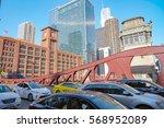chicago  usa   circa april ... | Shutterstock . vector #568952089