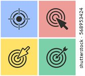 target vector icons set.... | Shutterstock .eps vector #568953424