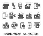vector illustration. mobile... | Shutterstock .eps vector #568953631