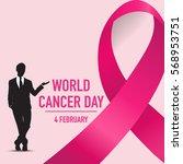 world cancer day. february 4....   Shutterstock .eps vector #568953751