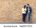 couple dating happiness... | Shutterstock . vector #568957291