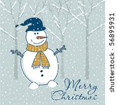 christmas greeting card | Shutterstock .eps vector #56895931