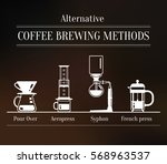 alternative coffee brewing... | Shutterstock .eps vector #568963537