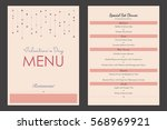 vector restaurant brochure menu ... | Shutterstock .eps vector #568969921