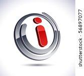 i 3d vector icon such logos. | Shutterstock .eps vector #56897077
