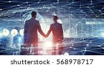 connection and networking... | Shutterstock . vector #568978717