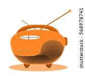 radio for world radio day.... | Shutterstock .eps vector #568978741