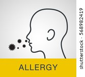 allergy logo icon vector... | Shutterstock .eps vector #568982419