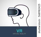 vr glasses for smartphone... | Shutterstock .eps vector #568982425