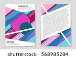 abstract vector layout... | Shutterstock .eps vector #568985284