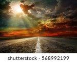 asphalt road. shallow depth of ... | Shutterstock . vector #568992199