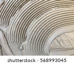 wet cement. wet cement mixed... | Shutterstock . vector #568993045