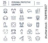 personal protective equipment... | Shutterstock .eps vector #568998307