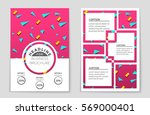 abstract vector layout... | Shutterstock .eps vector #569000401