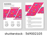 abstract vector layout... | Shutterstock .eps vector #569002105