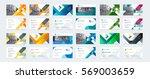 vector creative business card... | Shutterstock .eps vector #569003659