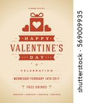 happy valentines day party... | Shutterstock .eps vector #569009935