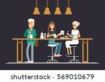 vector flat illustration of... | Shutterstock .eps vector #569010679