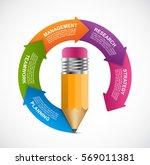 infographics for business... | Shutterstock .eps vector #569011381