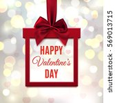 happy valentines day   red ... | Shutterstock .eps vector #569013715