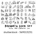 business doodles sketch vector... | Shutterstock .eps vector #569015251