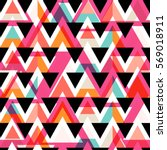 vector modern seamless colorful ... | Shutterstock .eps vector #569018911