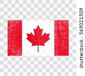 grunge canada flag. canadian... | Shutterstock .eps vector #569021509