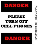 sign indicating cell phones... | Shutterstock . vector #56902447