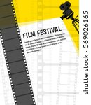 cinema festival poster or flyer ... | Shutterstock .eps vector #569026165