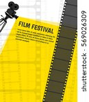 cinema festival poster or flyer ... | Shutterstock .eps vector #569026309