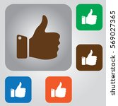forefinger up icon. thumbs up.... | Shutterstock .eps vector #569027365