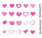 heart mark icon. | Shutterstock .eps vector #569036575