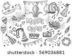 mardi gras or shrove tuesday...   Shutterstock .eps vector #569036881