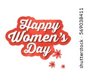 happy women's day greeting card ... | Shutterstock .eps vector #569038411