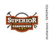 carpentry logo   Shutterstock .eps vector #569039431