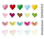 heart mark icon. | Shutterstock .eps vector #569042515
