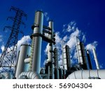 factory on a background of the... | Shutterstock . vector #56904304